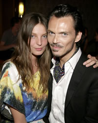 Daria Werbowy and Matthew Williamson at the Launch of his H&M High Summer Party