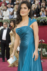 Mexican Beauty Salma Hayek Arrives At The 78th Annual Academy Awards Kodak Theatre In Hollywood CA